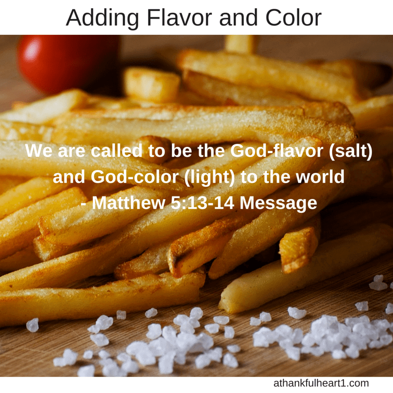 Add God-flavor to Other's Lives